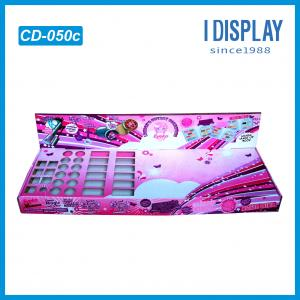 China Full Printing Creative Colour Cosmetic cardboard display shelves For Nail Polish on sale