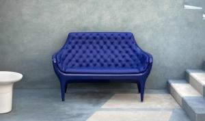 China Replica Showtime Poltrona Chair Fiberglass Arm Chair Furniture , Blue White supplier