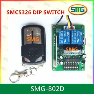 China SMG-802D RF Wireless 330MHz 433.92MHz SMC-5326p-3 DIP Switch Remote Control Receiver on sale