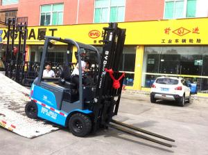 China BYD Electric Powered Forklift , 2.5T Electric Counterbalance Forklift 4 Wheel on sale