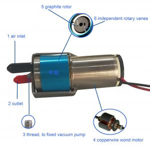 China 12V DC Mini Vacuum Pump With Carbon Graphite Vanes Low Starting Current on sale