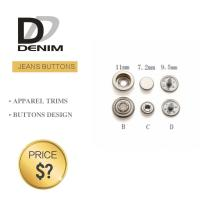 China Professional Denim Metal Buttons , Tapered Pearl Snap Buttons Custom Size on sale