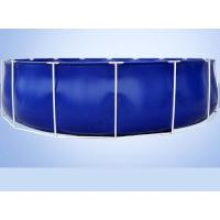China 50000 Liters Folding Tarpaulin Fish Pond , Blue Color Aquarium Fish Tank With Steel Frame on sale