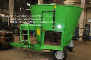 China Stationary Feed Mixer For Farm Animal Feeding Mixing Vertical Green Color on sale