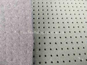 China 4mm Black Skid Proof Breathable Neoprene Fabric Roll Single Side Polyester Knitted on sale