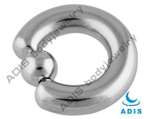 China Captive Bead Ring , 316l Stainless Steel Ball Closure Ring For Men on sale