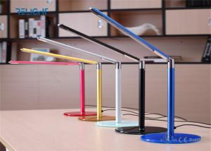 China Tempered Toughened Glass Alloy LED Desk Lamp Dimmable and Foldable USB Charging Port Long Lifespan on sale