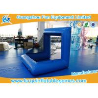 Blue Factory Air Sealed Inflatable Football Polo Goal Sport Game Inflatable Soccer Goal Post