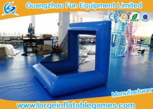 China Blue Factory Air Sealed Inflatable Football Polo Goal Sport Game Inflatable Soccer Goal Post supplier