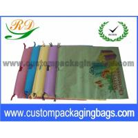 China Colorful HDPE Material Drawstring Plastic Bags with Bottom Retail or Clothes Packaging on sale