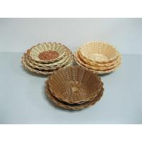 Small Beautiful Christmas Poly Rattan Basket For Cookie , Supermarket Use