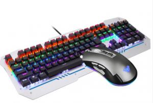 Quality Aula USB Wired Keyboard And Mouse Set For Battlegrounds Overwatch for sale