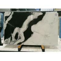 Book Matched Marble Stone Floor Tiles , Smooth Black And White Marble Tile