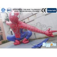 China Lively inflatable advertising balloons Spiderman Famous Character For Exhibition Activity on sale