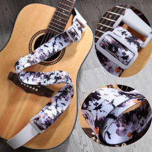 China Beautiful Personalized Guitar Straps For Women Polyester PU Leather Material on sale