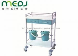 China Hospital Medical Supply Cart MJTC01-01 CPR Back Board With 2 Dust Baskets on sale