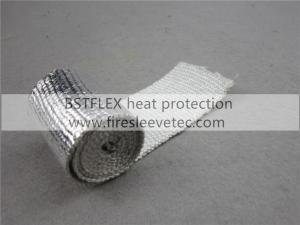 China heat reflective aluminum fiberglass sleeve on sale