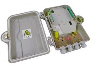 China Indoor / Outdoor Fiber Optic Distribution Box 12 Core With SMC Material on sale