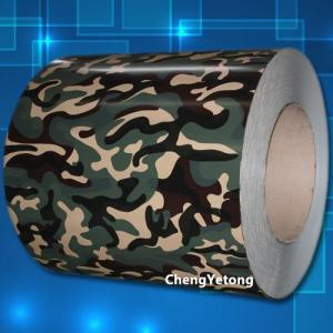 China Outdoor Decoration Color Coated Steel Coil Camouflage Color With SMP Coating on sale