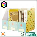 Cute Stationery Paper Corrugated Diy Desktop Storage Box A4 Size Folder for Display Box