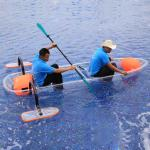 White Water Clear Bottom Fishing Kayak , Aluminum Frame Water Sports Equipment