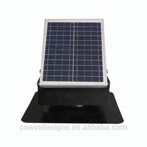 China Interior ventilation 25w 9inch Solar Attic Vent Fan with storage battery on sale