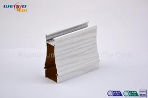 China Industrial White Wood Grain Aluminium Profiles For Windows And Doors on sale