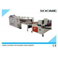 Rotary Flexo Printer Slotter Die Cutter , Printing Slotting Die Cutting Machine Speed 80Pcs / Min.