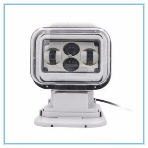 China 7 Inch Marine LED Search Light  60 Watt Waterproof Magnetic Remote Control White color on sale