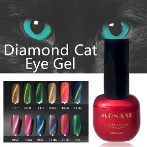 China DIY 3D magnetic cats eyes for nail gel polish magical cat eye magnets on sale