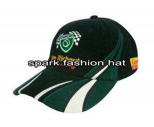 Quality 100% heavy weight cotton patchwork racing cap with high quality embroidery logo for sale