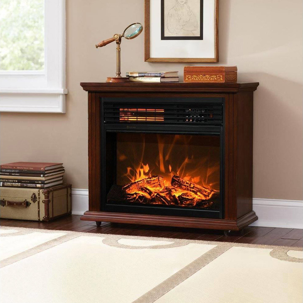 electric log heater for fireplace. Insert And Freestanding Electric Fireplace Heater Log LED Flame Effect EF-30C Remote Control Built-in Stove For