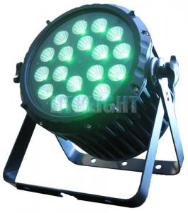 China Professional LED Stage Wash Lights 18 Flat Par Light With 400mA Drive Current on sale