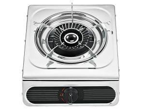 China Stainless Steel Table Top Gas Stove with Electroplating Grill , 1 Burner Gas Stove on sale