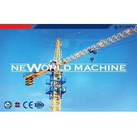 QTZ160 Large Topless construction Tower Crane self - lifting Yellow / Red / Blue