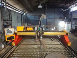 China Heavy duty CNC Plasma Cutting Machine 50mm Cutting thickness on sale