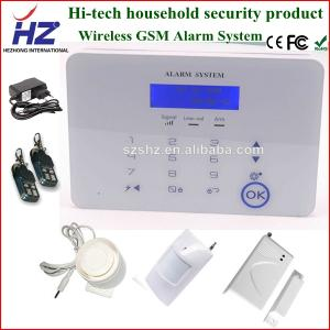 China SMS alarming wireless remote control personal security home alarm system on sale