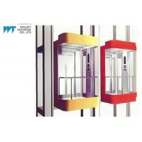 Most Stops 36 Panoramic Glass Elevator With Permanent Magnetic VVVF Door Operator