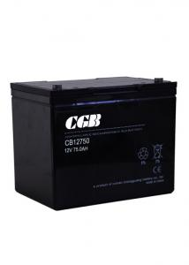 China 75Ah Rechargeable AGM Lead Acid Battery 12V for Emergency Power Supply on sale