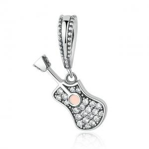 China Popular 925 Sterling Silver Charms For Bracelets Decor Music Instrument Shaped on sale