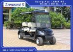 Black 4 Seaters Powerful Electric Club Car Golf Buggy Steel Framework