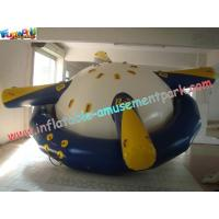 Customized Durable Inflatable Boat Toys Saturn Rocker With Stainless Steel Anchor Ring