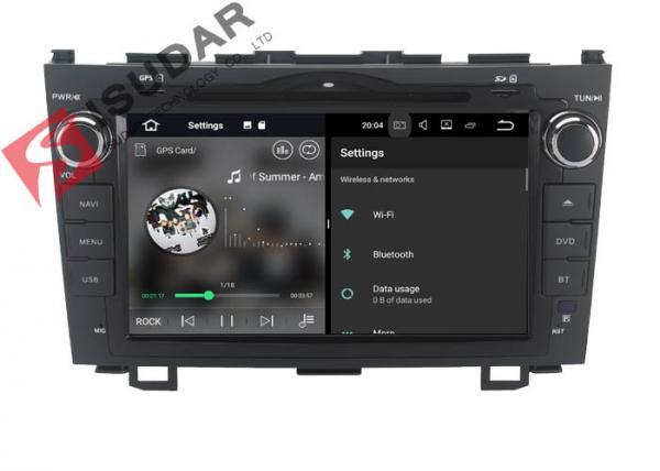 8 Inch HD Screen Android Touch Screen Car Radio , HONDA CRV DVD