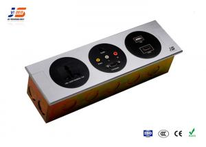 Sand Blast Conference Table Connection Box Socket Power USB Audio - Conference table power box