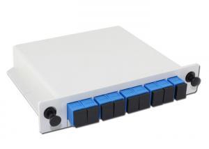 China Cassette Type Fiber Optic Splitter Box , 1x8 PLC Splitter For PON / FTTH Network on sale