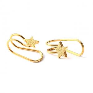 China Philippines No Hole Gold Stainless Steel Star Clip On Earrings on sale