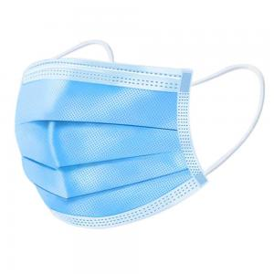 China Elastic Earloop Hospital Face Masks High Density Filter For Coronavirus Virus Pollen on sale