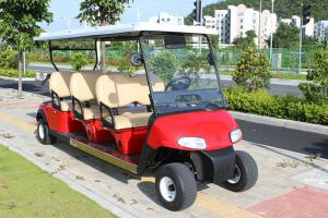 China 4 Wheel Custom Color 6 Passenger Golf Electric Cart Powered By Lead Acid Batteries on sale