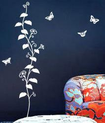 China Decorative Removable Wall Flower Stickers G128 / Wall Sticker Art  on sale