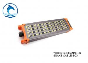 China YDC05 Snake Cable Box 24 Channel Pro XLR Audio Snake Cable Stainless Steel Texture on sale